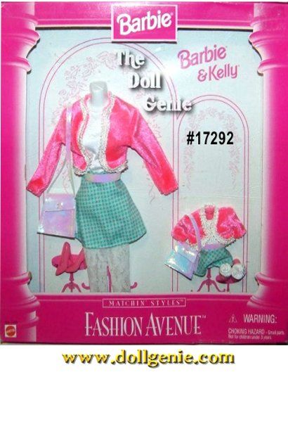 Fashion Avenue Barbie and Kelly Pink and Blue Skirt Set