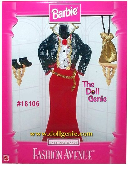 Fashion Avenue Barbie INternational SPAIN Clothing and Accessories
