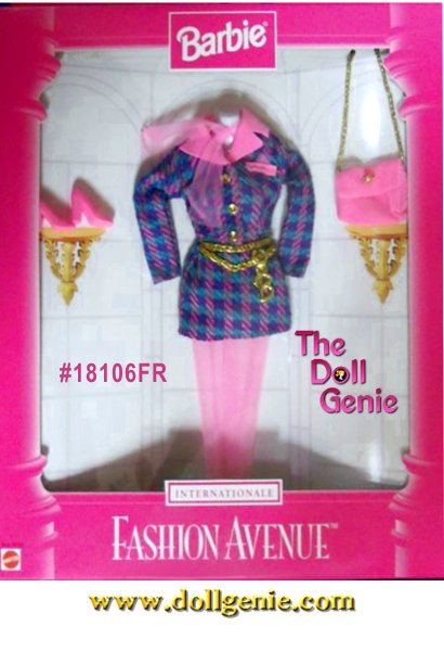 Barbie Fashion Avenue International Collection - France Fashion and Accessories Set