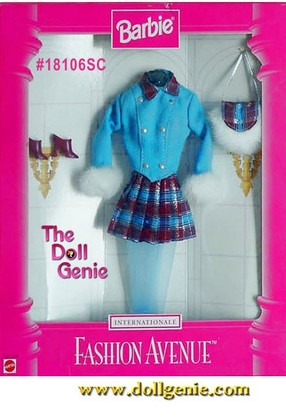 Barbie Fashion Avenue International Collection - Scotland Fashion and Accessories Set