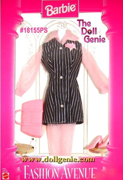 Barbie Fashion Avenue Pinstripe Dress and Accesories Clothing Set18126PS