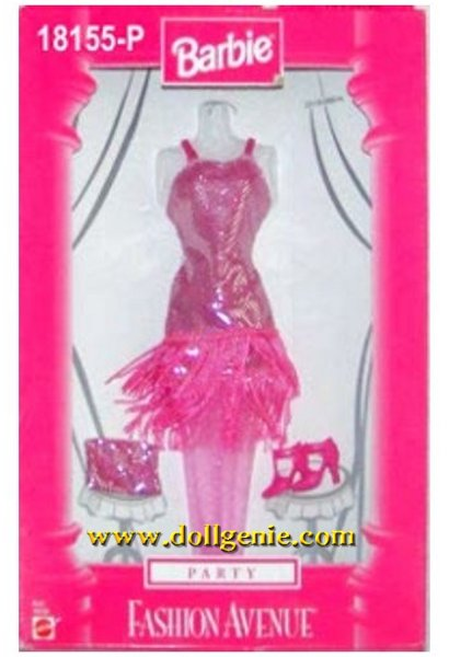 Barbie Fashion Avenue Pink Flapper Dress and Accessories # 18155P