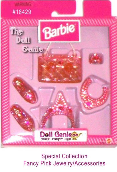 Special Collection Pink Barbie Jewelry and Accessory Set