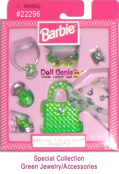 Special Collection Green Barbie Jewelry and Accessory Set
