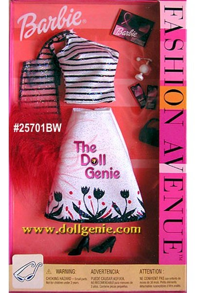Barbie Fashion Avenue Black and White Fashion, Shoes and Accessories Pack