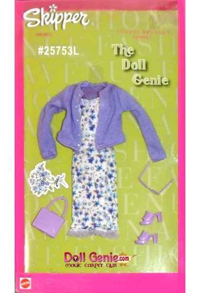 Skipper Fashion Avenue Lilac Sweater and Flower Dress with Accessories