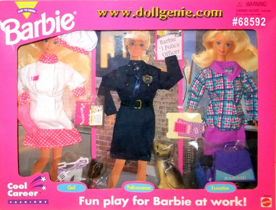 Barbie Cool Career Clothing Set #65892 - Chef, Police and Executive