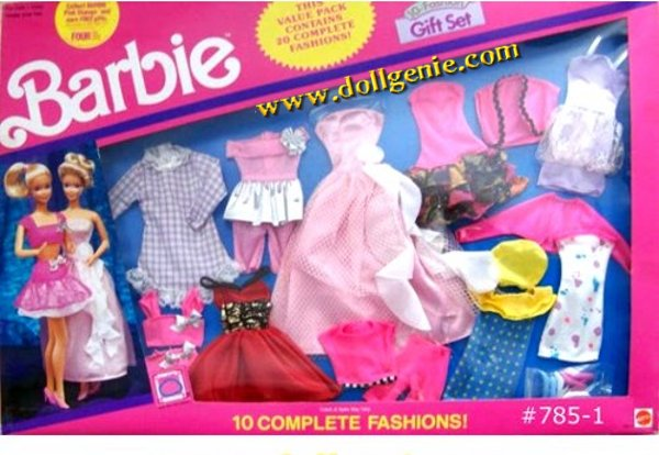 Barbie 10 Fashions Clothing Assortment