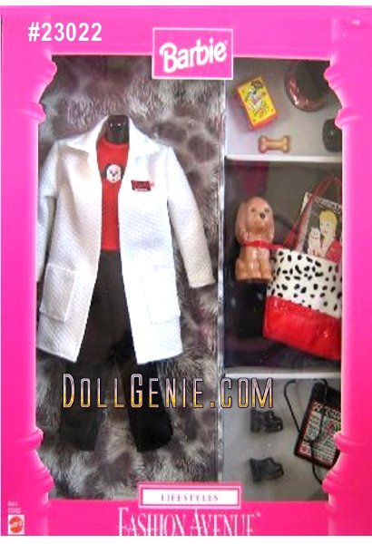 Included in this fashion set is pants, shirt, jacket, shoes, stethoscope, pet chart, bag, puppy, and puppy dish,food etc