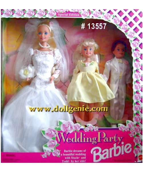 Wedding Party Barbie, Stacie and Todd Giftset