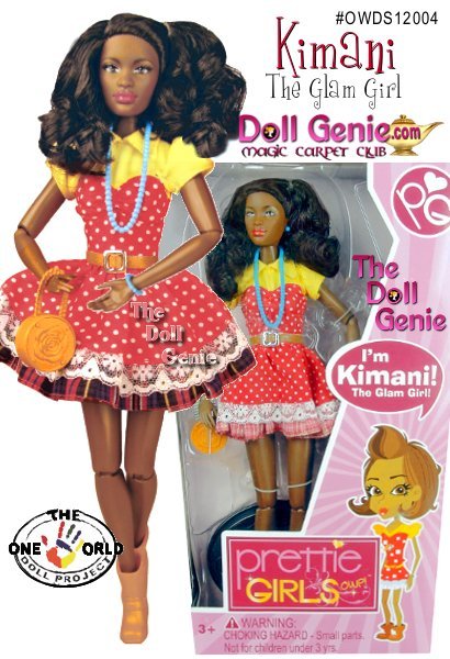 Kimani is an African Doll. She is beautiful on the inside and out. The best friend anyone could ever have. When it comes to needing the perfect outfit, to the right jewelry or for any fashion tip, Kimani is the go-to girl. Nothing can shake Kimani from experiencing joy. She is a spit-fire, energetic free-spirit & marches to the beat of her own drum. Artistic and creative in nature, Kimani loves the arts and dreams of red carpet moments. Kimani is in a sassy dress and comes with a purse, necklace, bracelet and shoes.
