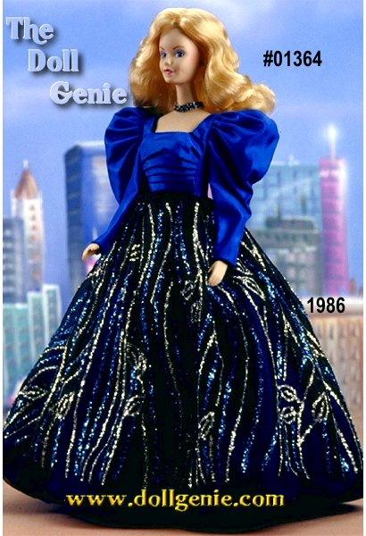 Limited Edition - Considered to be the first collector Barbie doll, Blue Rhapsody Barbie is made of fine bisque porcelain. Wearing a decadent royal blue gown with silvery accents, Blue Rhapsody Barbie doll features Superstar Barbie face sculpting. Like the other dolls in the Barbie Porcelain Collection, she wears undergarments, is individually numbered, and comes with a certificate of authenticity.