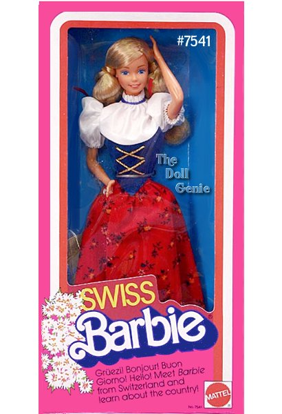 Dolls of the World 1983 Swiss Barbie made by Mattel #7541
